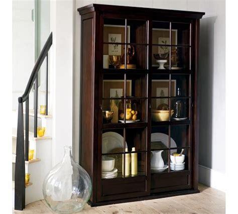Garrett Glass Cabinet by Garrett Glass Cabinet Pottery Barn House Ideas