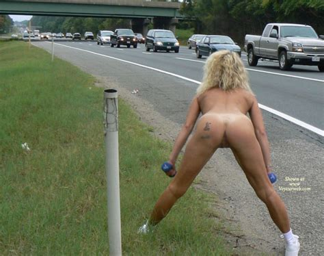 Naked Workout At Roadside August Voyeur Web Hall Of Fame
