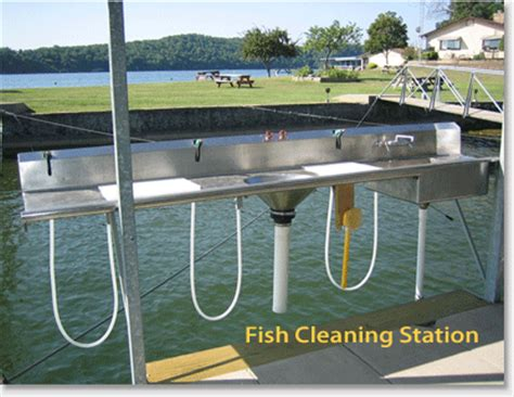 fish cleaning station with sink for dock silver sands marina resort