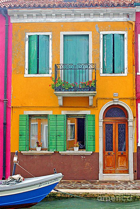 Colourful House by 0578 Burano Italy Colorful House Photograph By Steve Sturgill