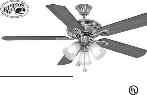 Hton Bay Ceiling Fans Manual by Hton Bay Ac 552 Manual