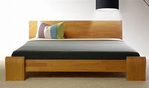 Lit 2 Places Moderne : lit 2 places bona mobilier en bois massif pour chambre coucher contemporaine ~ Teatrodelosmanantiales.com Idées de Décoration