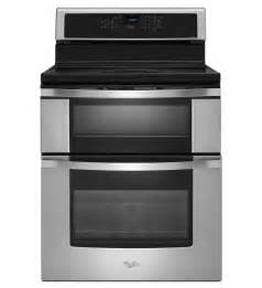"""Whirlpool WGI925C0BS 30"""" 6.7 Cu. Ft. Double Oven Induction Range Stainless Steel Ranges Electric"""