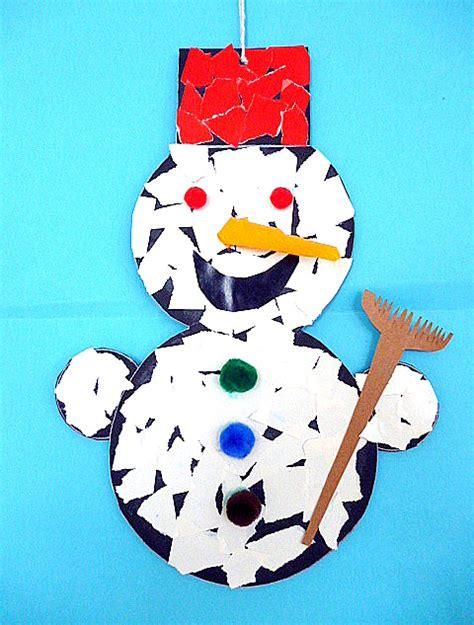 winter basteln mit kindern unter 3 schneemann aus schnipseln weihnachten basteln meine enkel und ich