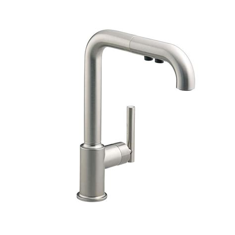 kitchen pull out faucet kohler purist single handle pull out sprayer kitchen