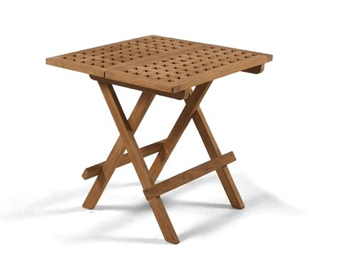 Garden Tables by Square Folding Teak Garden Table