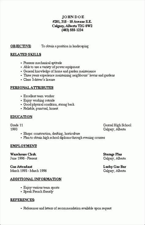 resume outline  job resume template resume outline