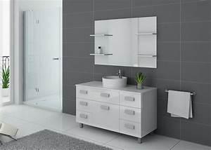 Meuble Vasque Sur Pied : meuble salle de bain 1 vasque 120 cm ensemble de salle de bain blanc imperial distribain ~ Teatrodelosmanantiales.com Idées de Décoration