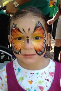 Monarch Butterfly Face Paint
