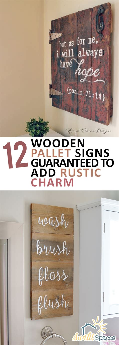 diy home decor with pallets 12 wooden pallet signs guaranteed to add rustic charm Diy Home Decor With Pallets