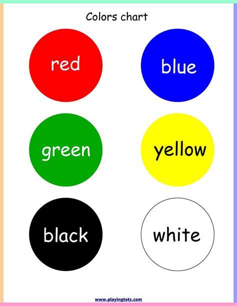 color chart preschool printable hd docx