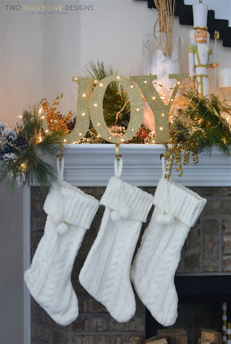 christmas holiday mantel  thirtyfive designs