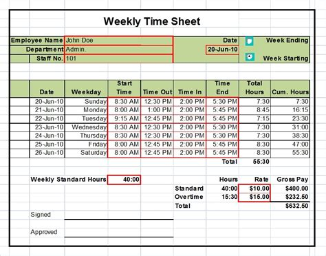 weekly timesheet template excel excel timesheet templates excel timesheets