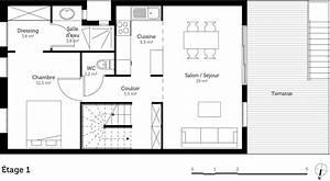 plan maison a deux etages ooreka With plan maison deux etages
