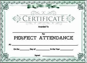 Perfect Attendance Certificate Template 1000 Ideas About Attendance Certificate On Pinterest Educational Supplies Award Certificates