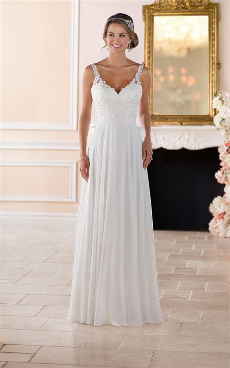 wedding dresses flowey beach wedding dress stella york