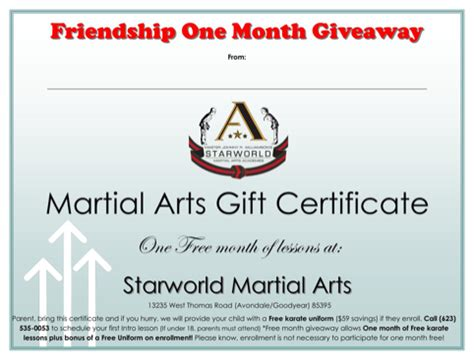 Martial Certificate Templates Free by Martial Arts Awards Certificate Template For Free