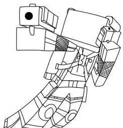 Minecraft Herobrine Coloring Pages Printable