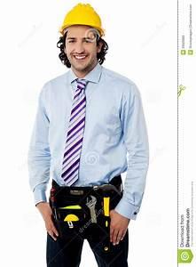 Smiling Male Architect Wearing Tool Belt Stock Photos - Image 33026983