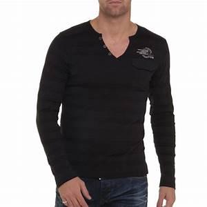 Tee Shirt Homme Manches Longues : t shirt homme noir tunisien manches longues ~ Melissatoandfro.com Idées de Décoration