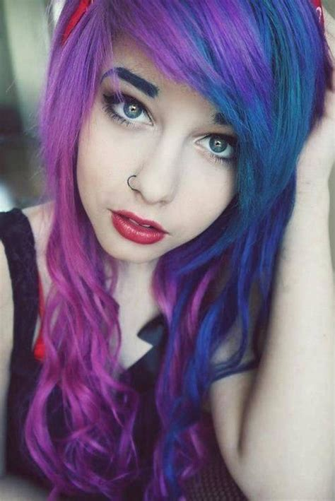 Cute Dyed Hairstyles Tumblr Fade Haircut