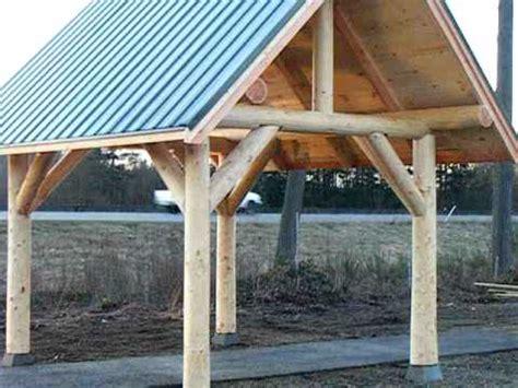 building  log gazebo  big bar lake doovi