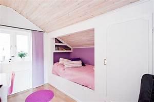 Schränke für Dachschräge ideen kinderzimmer madchen bett kombination Haus innen Pinterest