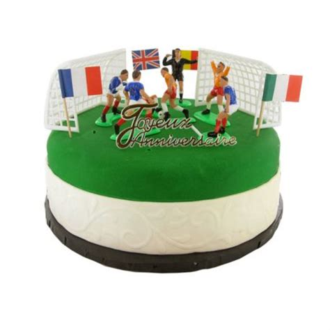 decoration gateau anniversaire football kit decor gateau football decor patisserie cerf