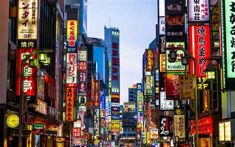 wallpapers tokyo  shinjuku street modern