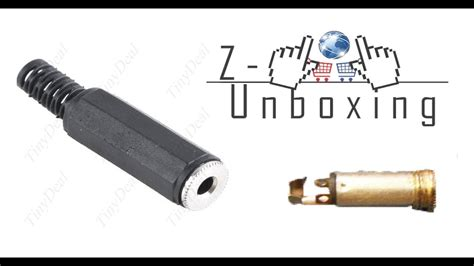 unboxing 3 5mm connector for audio cable