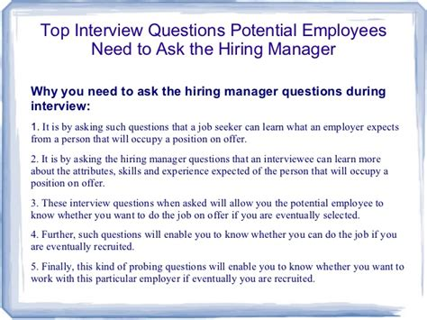 best questions to ask the interviewer in a