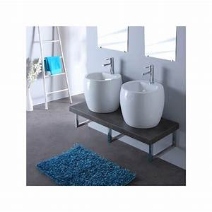 console de salle de bain vente meuble gris double vasques With salle de bain design avec meuble double vasque salle de bain