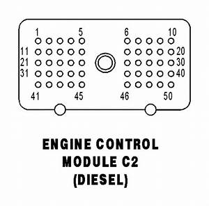 03 Dodge Cummins Ecm Pin Layout Diagram  Color Code Of