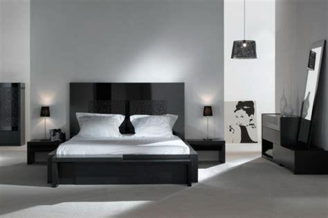 chambre avec lit noir moderne chambre à coucher complète archzine fr