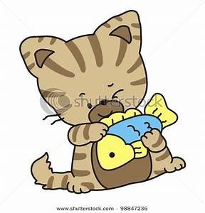 Cat Eating Clipart - Clipart Suggest