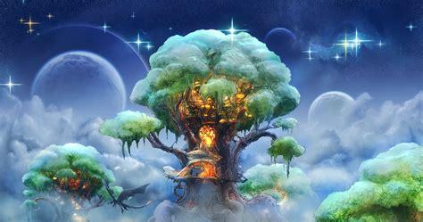 fantasy tree art magic desktop wallpaper tree art