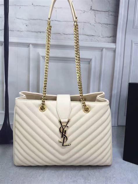 imitation designer ysl large cream shoulder monogram bag ysl  luxury shop