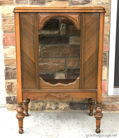 stereo cabinet vintage antique repurposed radio cabinet in the garage 174