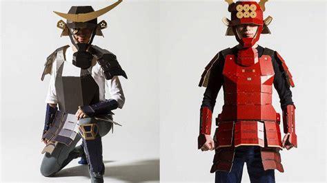 armor si e social cool samurai armor made out of cardboard geektyrant