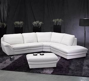 White Sectional Sofa Leather Modern White Leather