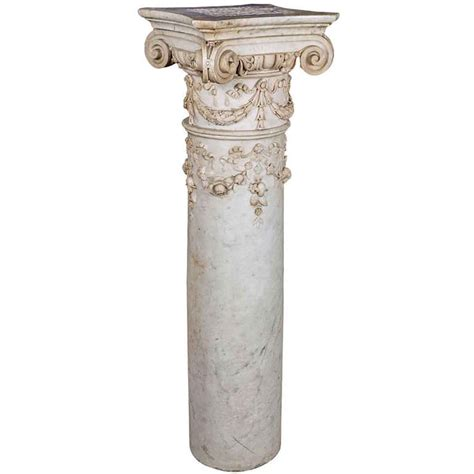 Column Pedestal by Carved Marble Column Pedestal With Ionic Capital Olde
