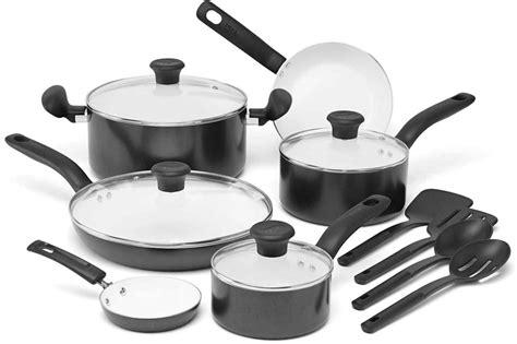 fal cse ceramic nonstick cookware set  piece review