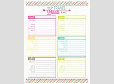 Printable Vacation Planner planner template free