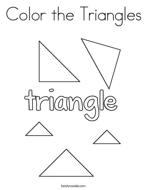 color  triangles coloring page twisty noodle