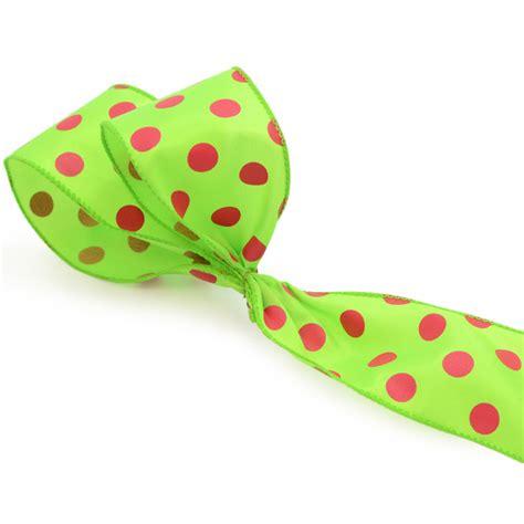 2 5 quot lime green fuchsia polka dot ribbon x981840 09