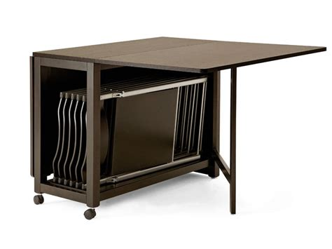 small brown table l glossy brown folding dining table small casters folding