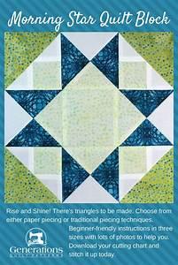 Morning Star Quilt Block Instructions  6 U0026quot   9 U0026quot  And 12