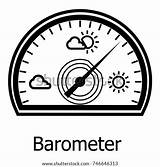 Barometer Coloring Template Icon sketch template