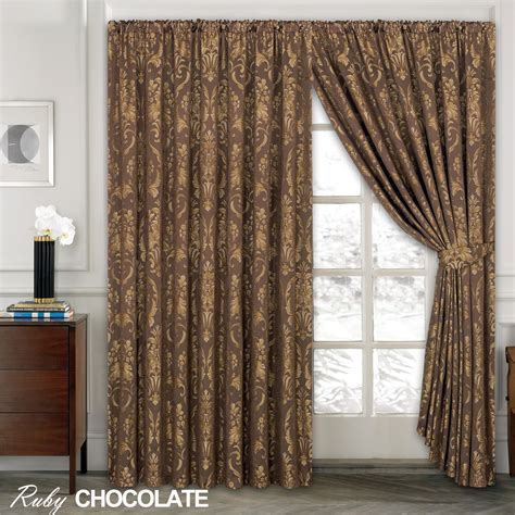 luxurious curtains drapes luxury jacquard curtains fully lined ready made top