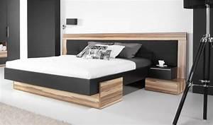 Lit 2 personnes en bois massif pour chambre coucher adulte for Suspension chambre enfant avec matelas 160x200 haut de gamme